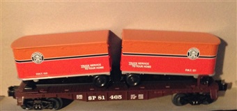 SP Flatcar with Piggyback Trailers #81465